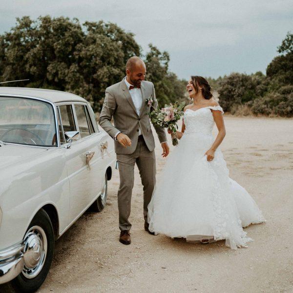 voiture mariés